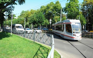 The first smart tram of UKCP factory started its first route in Krasnodar City